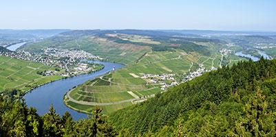 Moselsteig - Panorama Fünfseenblick