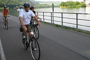 Radfahren an der Mosel